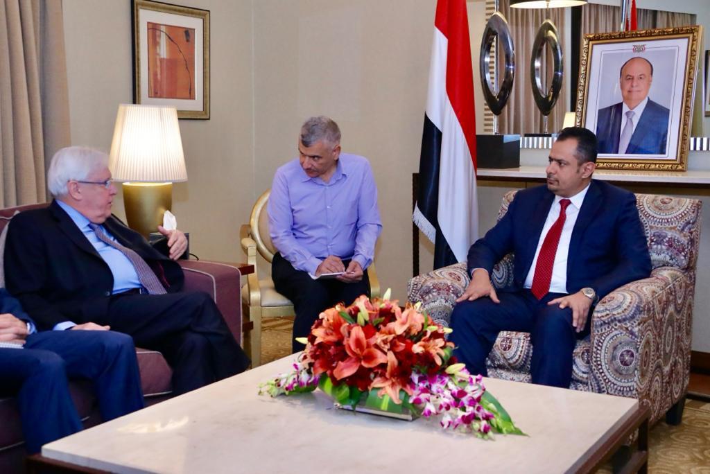رئيس الوزراء يستقبل المبعوث الخاص للأمين العام للأمم المتحدة إلى اليمن