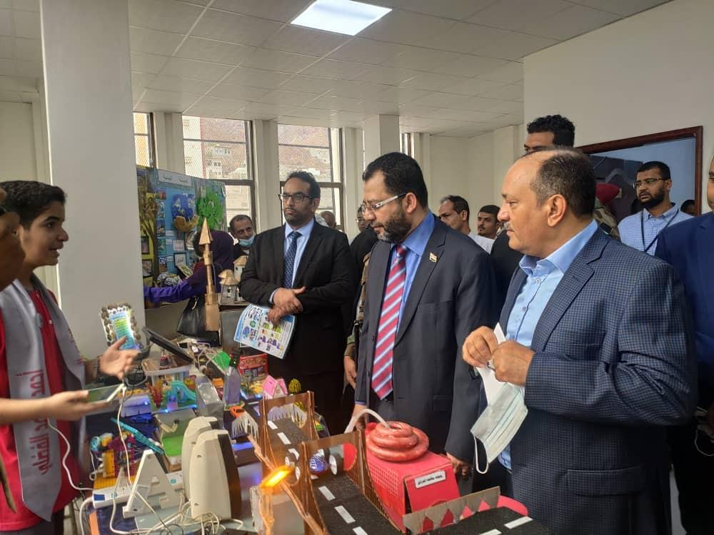 وزير المياه خلال فعاليات الاحتفاء باليوم الوطني للبيئة