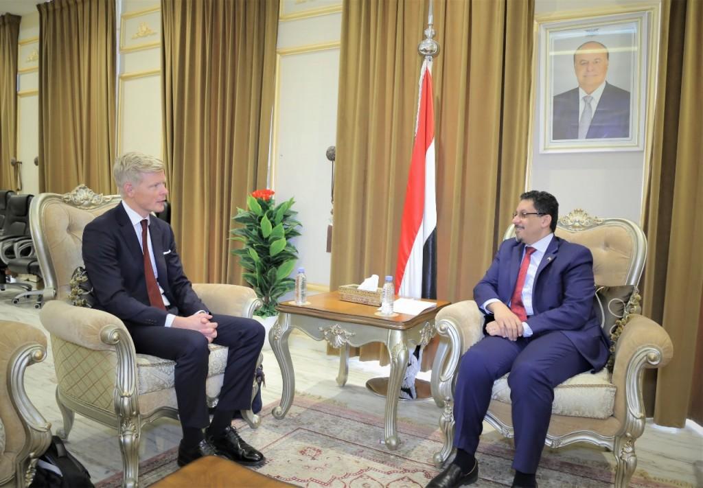 وزير الخارجية مع المبعوث الأممي